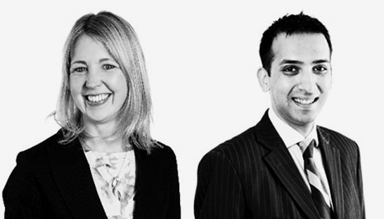 Keely Woodley and Usman Malik partner at Grant Thornton