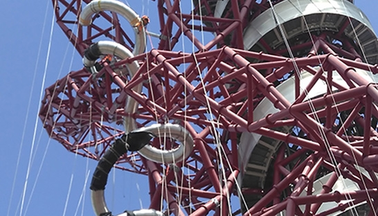 Mace oversees delivery of new ArcelorMittal Orbit 178 meter slide