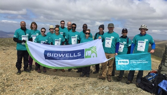 Bidwells climbs Mount Helvellyn to fundraise for charity RNIB