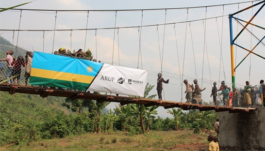 Arup and Bechtel support Bridges to Prosperity with Rwanda bridge