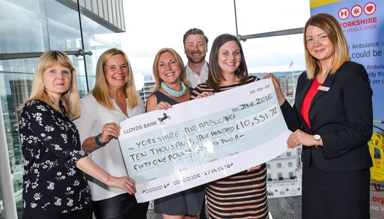 Deloitte raises more than £10,000 for the Yorkshire Air Ambulance