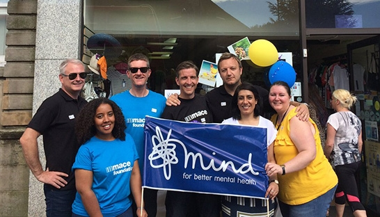 Mace teams takeover Mind shops for charity challenge
