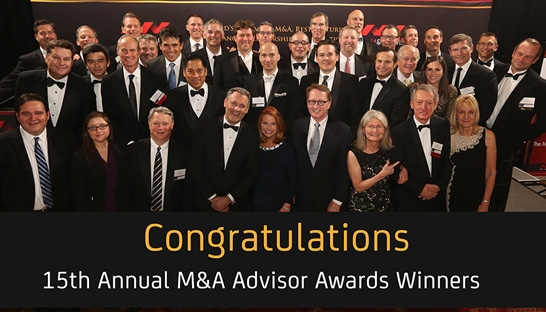15 advisory and consulting firms take home M&A Advisor Awards