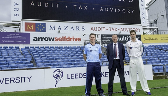 Mazars scores sponsorship renewal with Yorkshire County Cricket Club