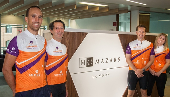 Mazars employees get on their bikes for 1,000 miles charity ride