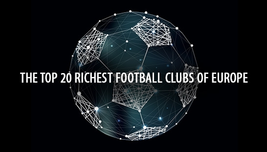 The top 20 richest football clubs of Europe