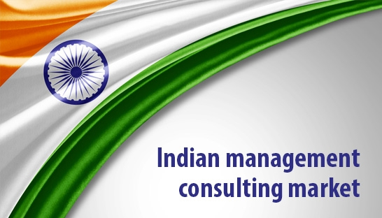 Indian management consulting market between $1.4 and $2.1 billion