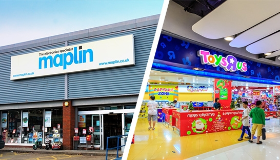 Moorfields and PwC appointed administrators, as Toys R Us and Maplin collapse