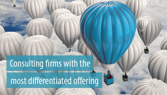 The consulting firms with the most differentiated offering in the market