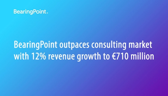 BearingPoint outpaces consulting market with 12% growth to €710 million