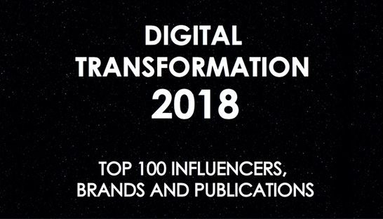 Consultancy.uk ranked a top 100 news publication on digital transformation