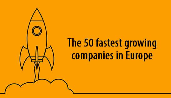 The 50 fastest growing companies | startups in Europe, UK and Germany lead