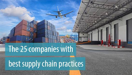 The 25 companies with the best supply chain and logistics practices