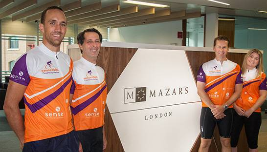 Mazars shortlisted for Sense Award after £100,000 charity haul