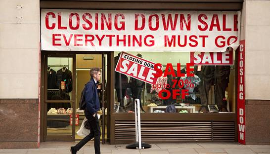 UK retail net store closures quadruple in first half of 2018