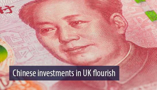 Decline of pound sees Chinese investment in UK flourish