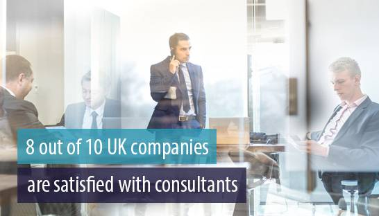 8 out of 10 UK companies hire consultants, and are satisfied