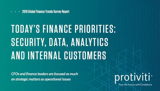 Security and data analytics the top priorities for finance