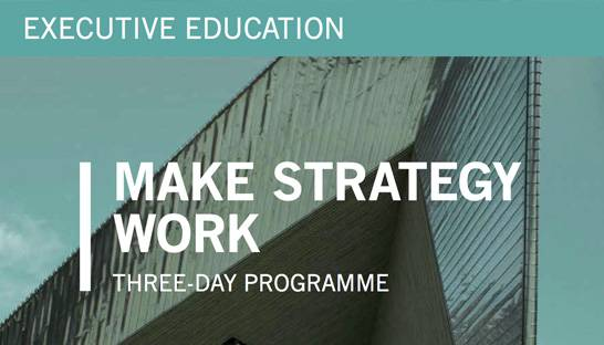 Learn how to make strategy work in three days