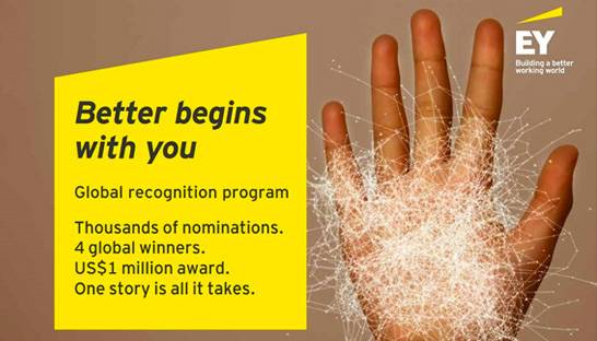 EY announces winners of the Better Begins With You programme