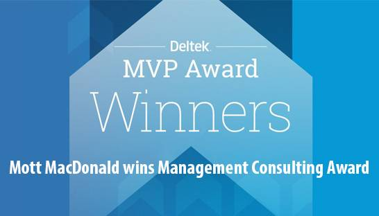 Mott MacDonald wins Deltek MVP | Management Consulting Award