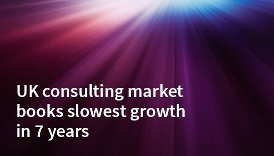 UK consulting market books slowest growth in 7 years