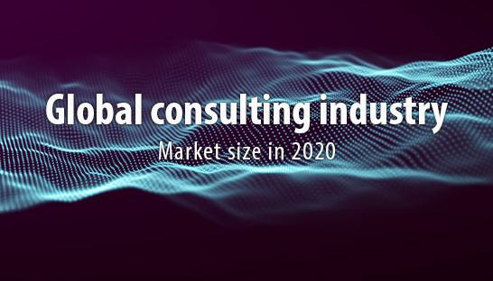 Market size of the global consulting industry in 2020?