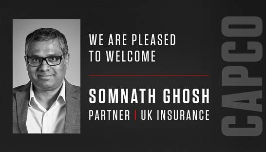 Somnath Ghosh joins Capco's Insurance practice as Partner