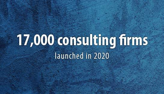Nearly 17,000 consultancies launched in the UK over 2020
