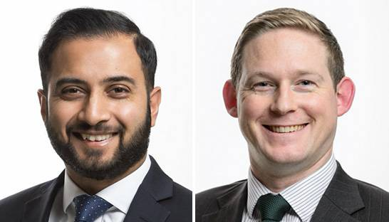 Hinesh Patel and Joe McGarry partner at Moorhouse