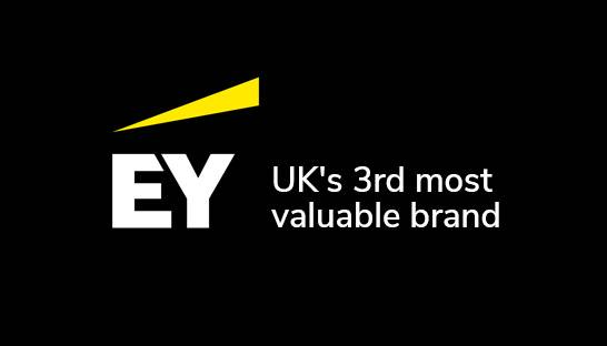 EY is UK's third most valuable brand – ahead of many giants