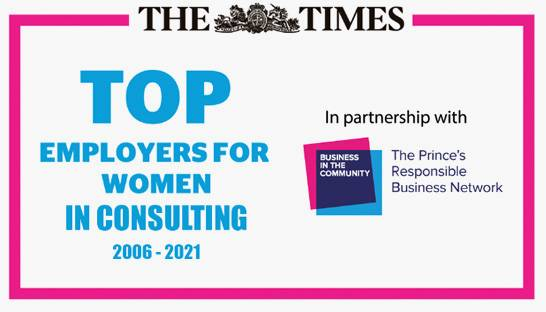 UK's top consulting firms for women and gender diversity