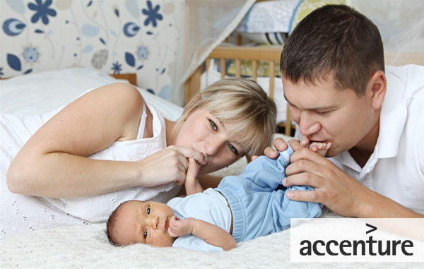 Accenture provides employees shared parental leave
