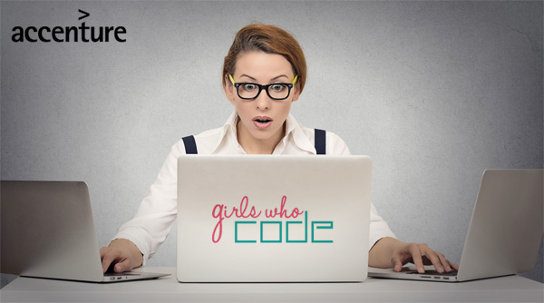Accenture sponsor van Girls Who Code