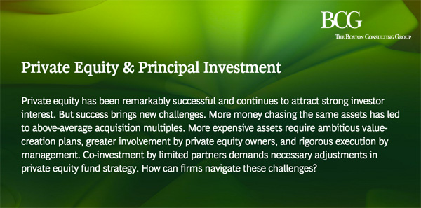 BCG - Private Equity & Principal Investment