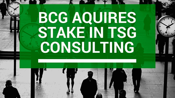BCG Aquires stake in TSG Consulting