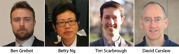 Ben Grebot, Betty Ng, Tim Scarbrough and David Carslaw