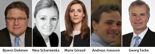 Bjoern Dahmen - Nina Scharwenka - Marie Giraud - Andreas Jonason - Georg Tacke