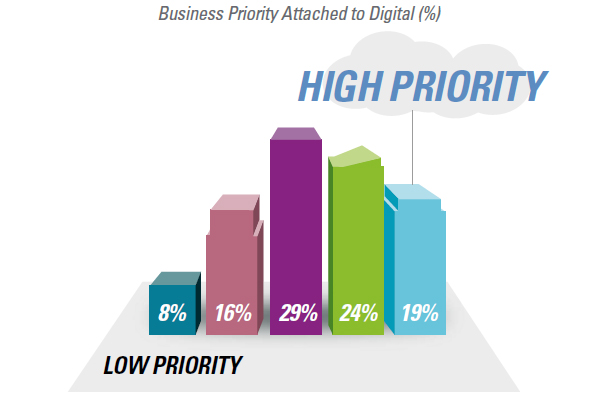 Business priority attached to digital
