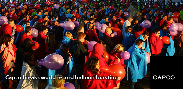 Capco breaks world record balloon bursting