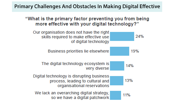 Challenges and obstacles in making digital effective