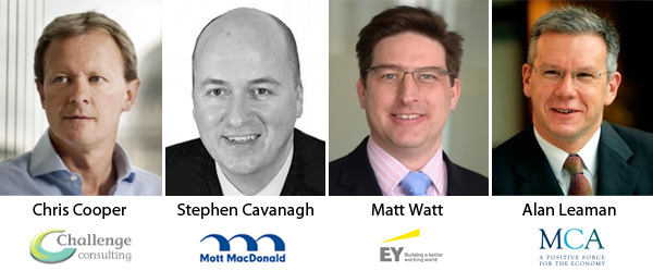 Chris Cooper, Stephen Cavanagh, Matt Watt en Alan Leaman