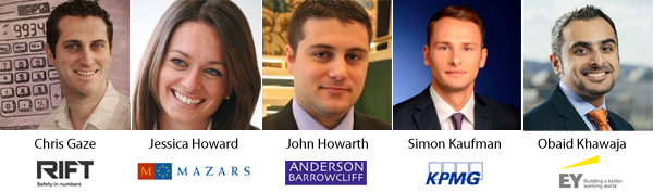 Chris Gaze | Jessica Howard | John Howarth | Simon Kaufman | Obaid Khawaja