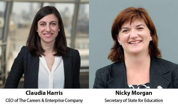 Claudia Harris and Nicky Morgan