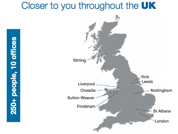 Closer to you throughout the UK