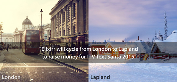 Elixirr will cycle fron London to Lapland