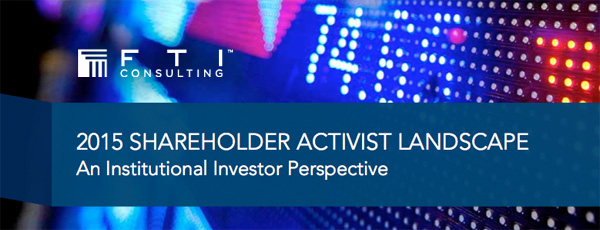 FTI Consulting - Shareholder Activist Landscape
