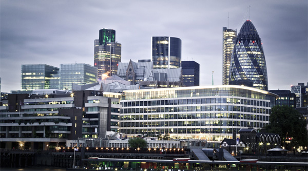 Financial district - London