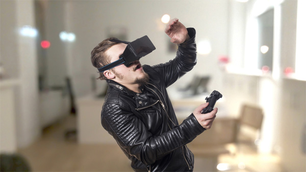 Gaming with VR glasses