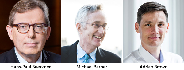 Hans-Paul Burkner, Michael Barber, Adrian Brown